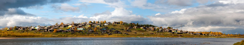 Free Russian Village On A Hill Over The River Royalty Free Stock Photo - 21374455