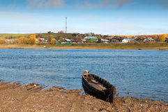 Free Russian Village On A Hill Over The River Stock Image - 21374501