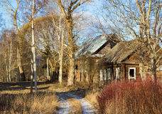 Russian village Paltsevo Royalty Free Stock Image