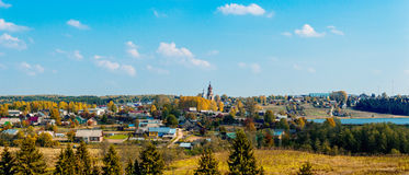Russian village Royalty Free Stock Photo