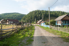 Russian village. Russia country village forest summer house Royalty Free Stock Photos