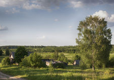The russian village Royalty Free Stock Photography