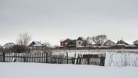 Russian village Royalty Free Stock Images