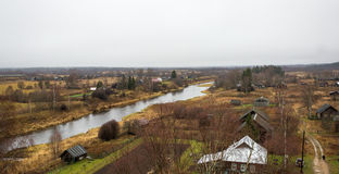 Russian village Selco-Karelian Stock Image