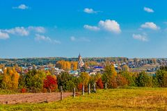 Russian village Royalty Free Stock Photography