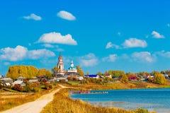 Russian village Stock Photo