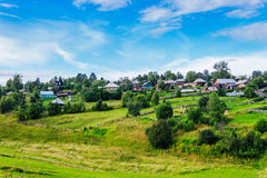 Russian village in summer Stock Image