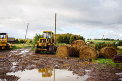 Russian village tractor Royalty Free Stock Photo