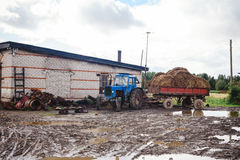 Russian village tractor Stock Images