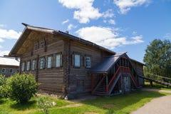 Russian Village in Verkhniye Mandrogi Royalty Free Stock Photo
