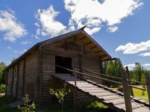 Russian Village in Verkhniye Mandrogi Stock Photos