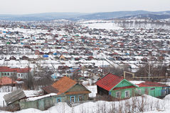 Russian village in winter Royalty Free Stock Image