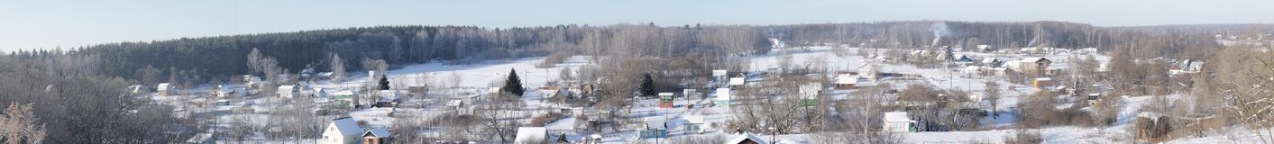 Russian village in winter royalty free stock images
