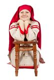 Russian village woman Royalty Free Stock Images