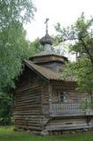 Russian village,Wooden architecture,the Chapel of Kirik and Iulita from the village Kashira Malovishersky district Stock Image