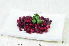 Russian vinaigrette salad. With parsley stock image