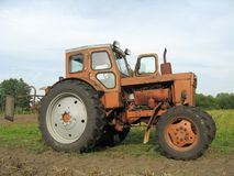 Russian vintage tractor Royalty Free Stock Photo