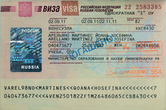 Russian Visa Royalty Free Stock Image
