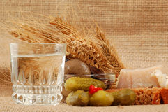 Russian vodka naturmort Royalty Free Stock Photo