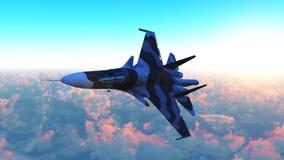 The Russian warplane Stock Image