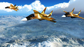 The Russian warplane s-34 Stock Images