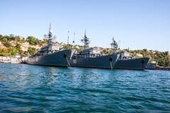 Russian warship in the Bay, Sevastopol, Crimea Stock Image