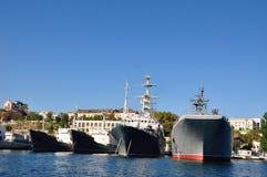 Russian warship in the port of Sevastopol, Crimea Stock Photo