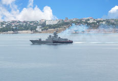 Russian warship Royalty Free Stock Photo