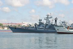 Russian warships Royalty Free Stock Photo