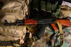 Russian weapon. Terrorist Weapons. stock photos