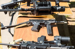 Russian weapons. Samples of Russian small firearm. Samara, Russia - May 27, 2017: Russian weapons. Samples of Russian small firearm royalty free stock photography