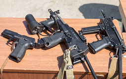 Russian weapons. Yarygin PYa, MP-443 Grach  Submachine gun PP-20 Stock Photo