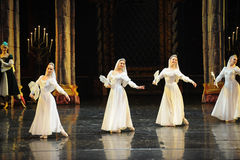 The Russian white lace dress-The prince of bar mitzvah-The third act-ballet Swan Lake Stock Image