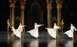 The Russian white lace dress-The prince of bar mitzvah-The third act-ballet Swan Lake Royalty Free Stock Image