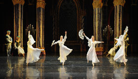 The Russian white lace dress-The prince of bar mitzvah-The third act-ballet Swan Lake Stock Photography