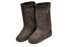 Russian winter boots Stock Images