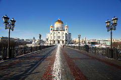 Russian winter cityscape Moscow Stock Images