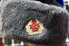 Russian winter hat Stock Photos