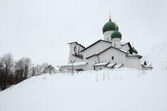 Russian winter. Pskov, Russia. Stock Image