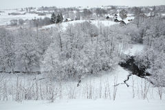 Russian winter. Royalty Free Stock Images