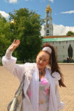 Russian woman in Sergiev Posad Royalty Free Stock Photography