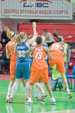 Russian women basketball Royalty Free Stock Image