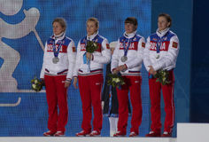 Russian women's biathlon team Royalty Free Stock Photo