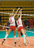 Russian women volleyball Royalty Free Stock Image