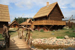 Russian wooden architecture Stock Photos