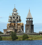 Russian wooden architecture on Kizhi island Stock Image