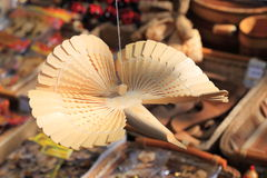 Russian wooden carved bird. KRASNODAR, RUSSIA - SEPTEMBER 28 - Krasnodar city day on 28, September in Krasnodar stock photography
