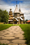 Russian wooden church. In the coutryside royalty free stock image
