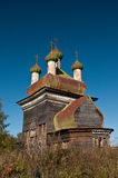 Russian wooden church Stock Photography