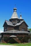 Russian wooden church. Old wooden church near Veliky Novgorod, Russia Royalty Free Stock Photos